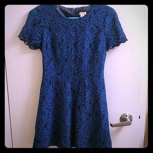 J.Crew Lace Petite Blue Dress